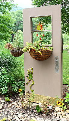 Photograph - Door Planter by Allen Nice-Webb