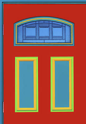 Photograph - Door - Primary Colors by Nikolyn McDonald