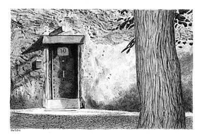 Drawing - Door by Scott Woyak