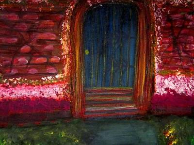 Red Painting - Door  by Stephanie Zelaya