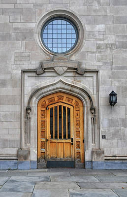 Photograph - Door To Cafeteria At Princeton University by Dave Mills