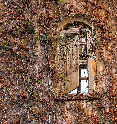 Photograph - Door To Nowhere Mary Allen Seminary Crockett Texas by Micah Goff