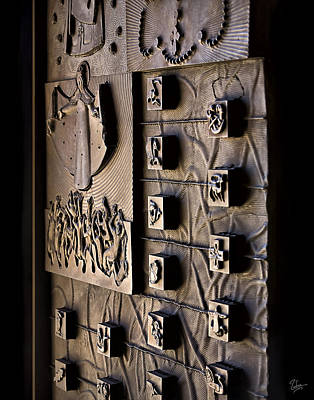 Photograph - Door To The Los Angeles Cathedral by Endre Balogh