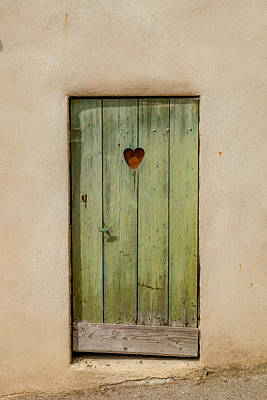 Door With Heart In Ancy Print by W Chris Fooshee