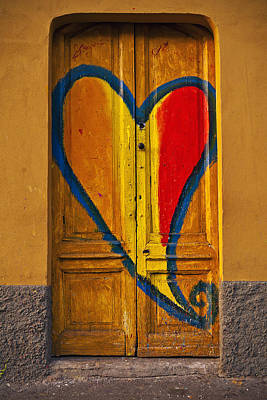 Door With Heart Art Print