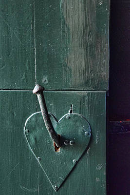 Photograph - Door With Heart Shape Handle by Mihaela Pater