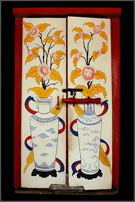 Door With Two Vases Art Print by Ty Lee