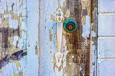 Photograph - Door With Weathered Paint by Alexander Kunz