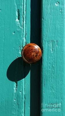 Photograph - Doorknob With Shadow by Lainie Wrightson