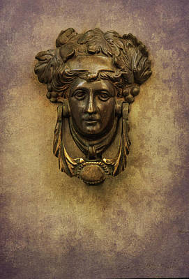 Photograph - Doorknob With Woman Head by Jaroslaw Blaminsky