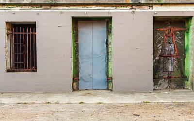 Doors And Bard Windows Art Print