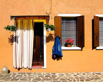 Doors And Windows IIi Burano Italy Art Print by Carl Jackson