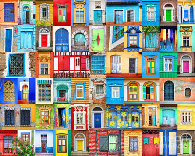 Doors And Windows Of The World Art Print