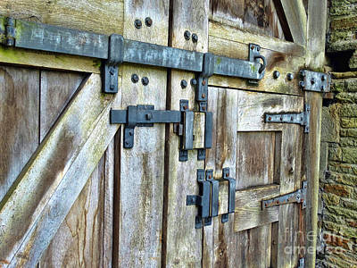 Doors At Caerphilly Castle Art Print