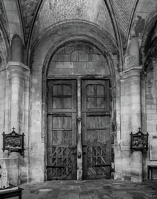 Photograph - Poissy, France - Doors From Within, Notre-dame De Poissy by Mark Forte