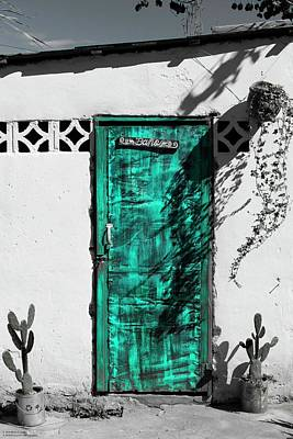 Photograph - Doors In Ojojona - 3 - Selective Colouring by Hany J