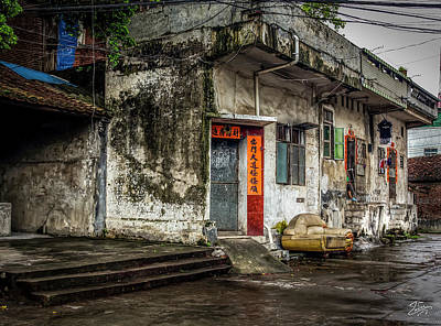 Photograph - Doors In Old Shilong by Endre Balogh