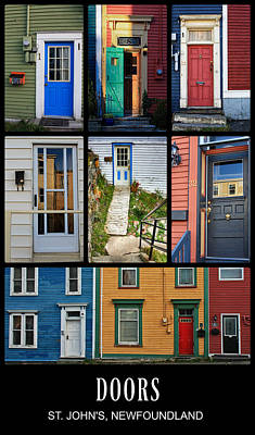 Photograph - Doors In St. Johns, Newfoundland by Tatiana Travelways