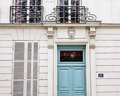 Photograph - Doors No. 16 - Paris, France by Melanie Alexandra Price