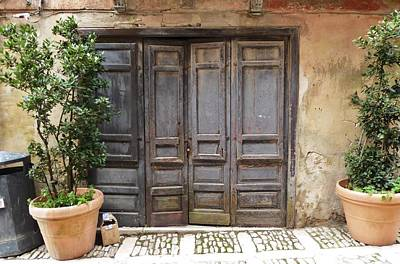 Erice Photograph - Doors Of Erice, Italy by Barbara Ebeling