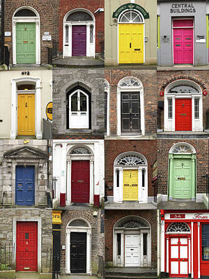 Doors Of Limerick Art Print