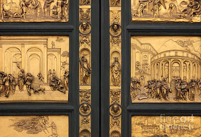Doors Of Paradise Detail Of The Florence Baptistry Art Print by Kiril Stanchev