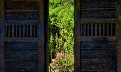 Photograph - Doors To Japanese Garden by Joseph Hollingsworth