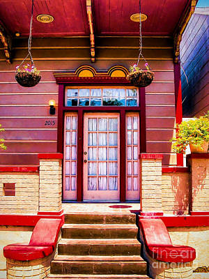 Photograph - Doorway And Steps-nola-marigny by Kathleen K Parker