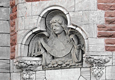 Photograph - Doorway Angel by Ethna Gillespie