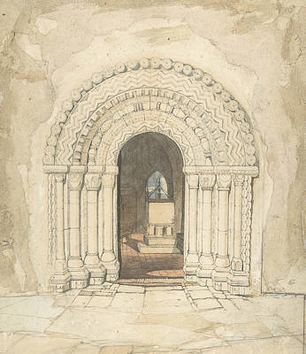 Drawing - Doorway, Heckingham Church by John Sell Cotman