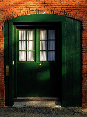Photograph - Doorway In Portsmouth New Hampshire  by Mary Capriole
