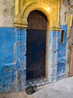 Essaouira Photograph - Doorway In The Mellah The Former Jewish by Panoramic Images