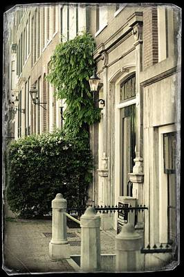 Photograph - Doorway Into House. Old Cards From Amsterdam  by Jenny Rainbow