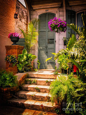 Photograph - Doorway-nola-marigny-vintage by Kathleen K Parker