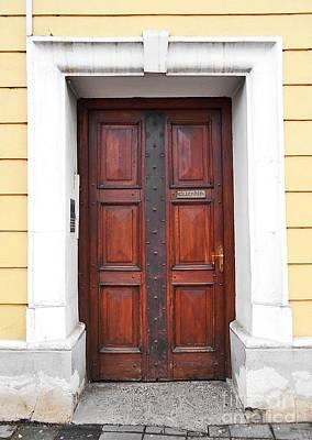 Photograph - Doorway Of  Roman Catholic Parish by Erika H