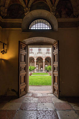 Photograph - Doorway To Castle Courtyard by Carolyn Derstine