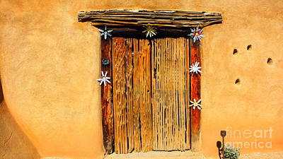 Doorway To Degrazia's Mission In The Sun Print by Louisa Griffith