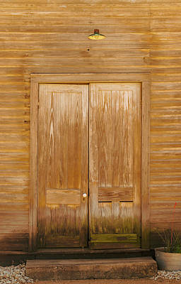 Photograph - Doorway To The Dancehall - Sisterdale Tx by Debra Martz