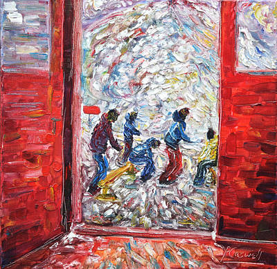 Painting - Doorway To The Mountains by Pete Caswell