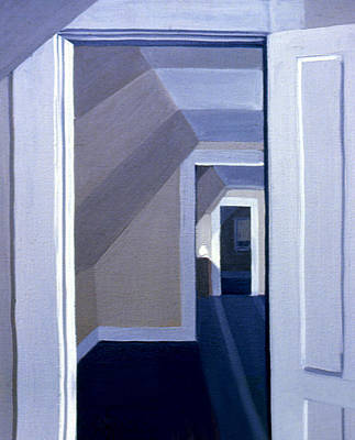 Painting - Doorways In Stoneham 1977 by Nancy Griswold