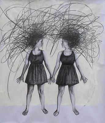 Drawing - Doppelganger by Mays Mayhew