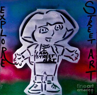 Dora The Explorer Painting - Dora Street Art #1 by Tony B Conscious