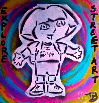 Liberal Painting - Dora The Explorer Street Art by Tony B Conscious