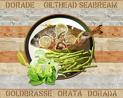 Photograph - Dorade - Tasty Dinner by Gabriele Pomykaj