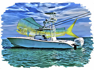 Salt Water Game Fish Digital Art - Dorado Yellowfin by Carey Chen