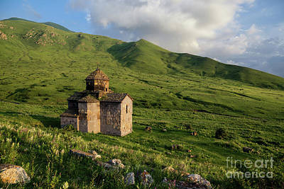 Photograph - Dorband Monastery In The Field, Armenia by Gurgen Bakhshetsyan