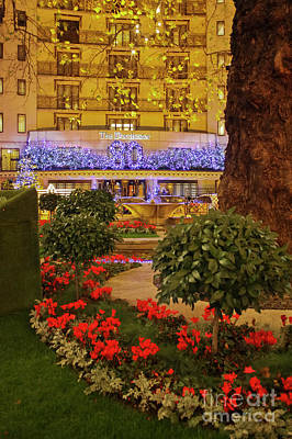 Photograph - Dorchester Hotel London At Christmas by Terri Waters