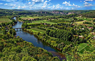Photograph - Dordogne River Valley Landscape by Anthony Dezenzio
