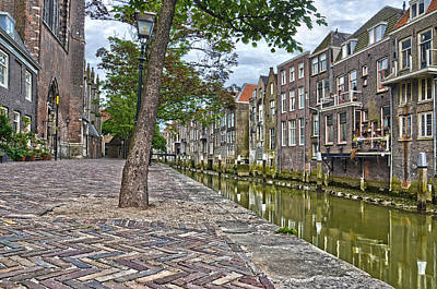 Dordrecht Behind The Church Art Print by Frans Blok