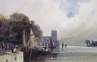 Harbor Drawing - Dordrecht by Thomas Shotter Boys